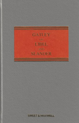 Gatley on Libel and Slander 12th ed with 1st Supplement