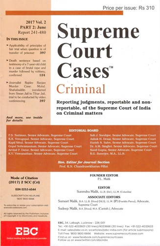 Supreme Court Cases (Criminal)- SCC(Cri) - SCC Criminal Subscription