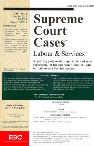 Supreme Court Cases (Labour & Services) - SCC(L&S)
