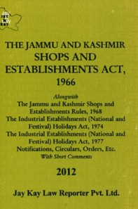 Shops And Establishments Act, 1966 Alongwith Rules