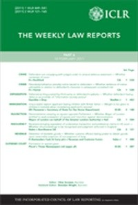 The Weekly Law Reports (WLR)