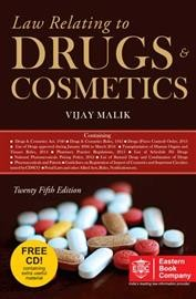 Law Relating to Drugs And Cosmetics With Free CD