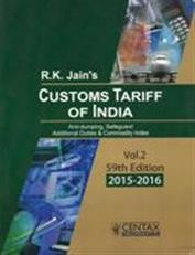 Customs Tariff of India - Volume 1 and Volume 2
