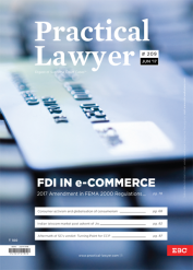 Practical Lawyer - FDI In e-Commerce