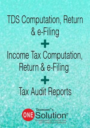 TDS Computation, Return & e-Filing + Income Tax Computation, Return & e-Filing + Tax Audit Reports (Multi-user) - One Solution