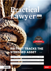 Practical Lawyer- RBI Fast Tracks The Stressed Asset