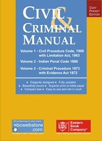 Civil And Criminal Manual (Coat Pocket Edition)-CPC, Civil Procedure Code, CRPC, IPC, EvidenceBare Act