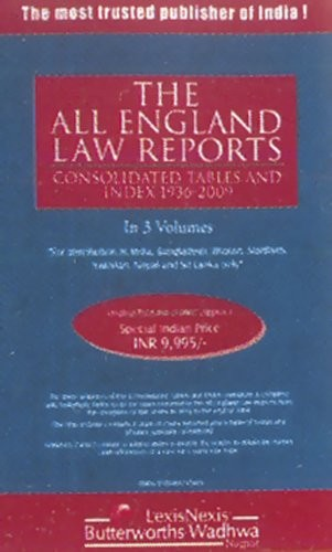 The All England Law Reports - Consolidated Tables and Index (1936-2009) in 3 Vols (HB)