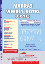 Madras Weekly Notes (Civil) (Fortnightlt) (In 3 Volumes)