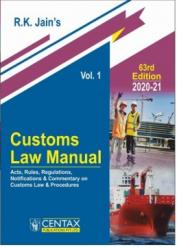 Customs Law Manual 2020-21 (in 2 Vols.)