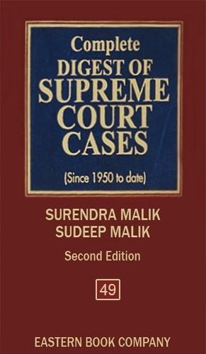 Complete Digest of Supreme Court Cases, Vol 49