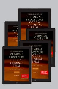 Supreme Court on Criminal Procedure Code and Criminal Trial (1950 to 2018) (in 5 Volumes)