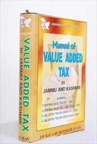Manual Of Value Added Tax In J&K