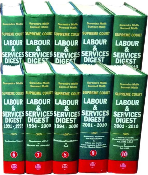 Supreme Court Labour & Services Digest (1950-2010) [10 Volumes]