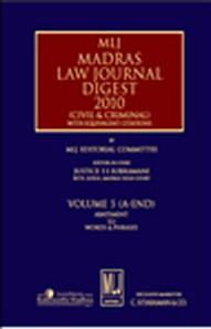 MLJs Madras Law Journal Digest 2010 Vol. 5 (A-End)