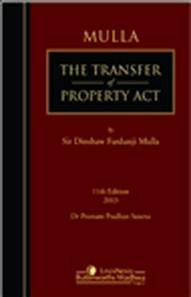 Sir Dinshaw Fardunji Mulla The Transfer Of Property Act