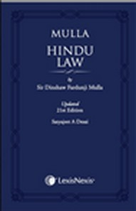 Sir Dinshaw Fardunji Mulla Hindu Law Updated 21st Edition