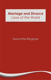 Marriage and Divorce Laws of the World (eBook)