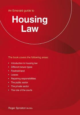 Housing Law: An Emerald Guide