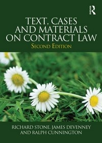 Text, Cases and Materials on Contract Law - 2nd Edition
