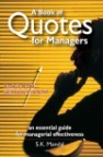 A BOOK OF QUOTES FOR MANAGERS