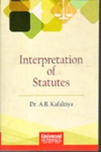 Interpretation of Statutes, (Reprint)