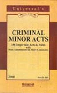 Criminal Minor Acts (151 Important Acts & Rules)