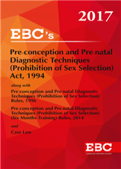 Pre-Conception and Pre-natal Diagnostic Techniques (Prohibition of Sex Selection) Act, 1994, - (Bare Act)