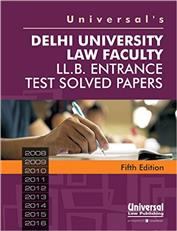 Universals Delhi University Law Faculty LL.B. Entrance Test Solved Papers