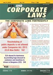 SEBI and Corporate Laws - The Corporate Laws Weekly ( Weekly Journal - 52 Issues)