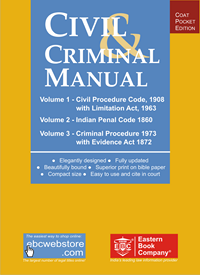 Civil And Criminal Manual - Containing CPC with Limitation Act, CrPC, IPC and Evidence Act (Coat Pocket Edition)