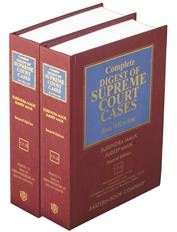 Complete Digest of SUPREME COURT CASES - Reissue Volumes 17-A and 17-B