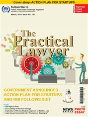 The Practical Lawyer - GOVERNMENT ANNOUNCES ACTION PLAN FOR STARTUPS AND RBI FOLLOWS SUIT