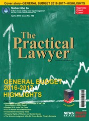 The Practical Lawyer - GENERAL BUDGET 2016-2017 HIGHLIGHTS