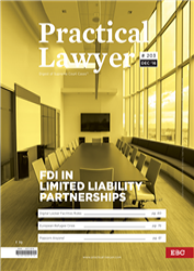 The Practical Lawyer - FDI In Limited Liability Partnerships