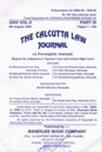 The Calcutta Law Journal (CLJ) [Fortnightly]