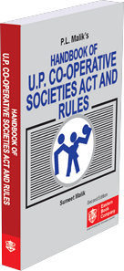 P.L. Malik Handbook of  U.P. Co-Operative Societies Act and Rules alongwith Service Rules and Notifications