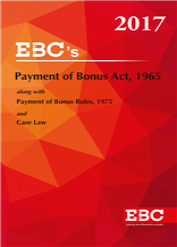 Payment of Bonus Act, 1965 with Rules