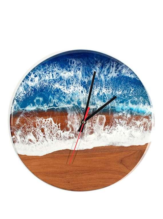 Ocean Wave Resin Clock...