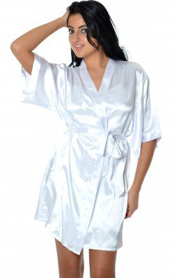 Short Robe 3028X White