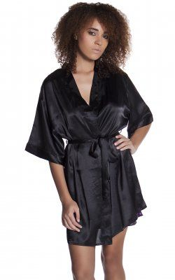 Short Robe - 3028 Black