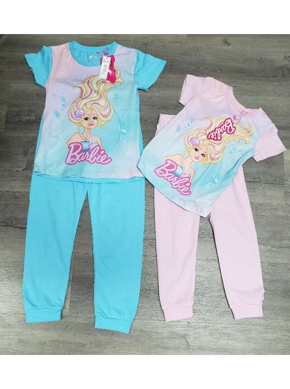 Barbie Short Sleeve,Long Pants Girls Pajamas
