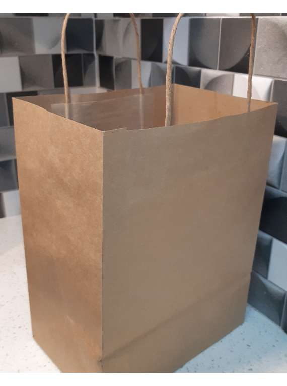 Kraft Paper Handle Bags (11.5 X 6 X16.75) 15 Pieces