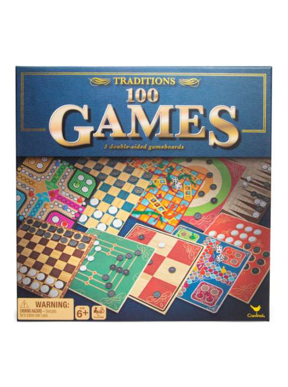 Traditions 100 Board Games Box