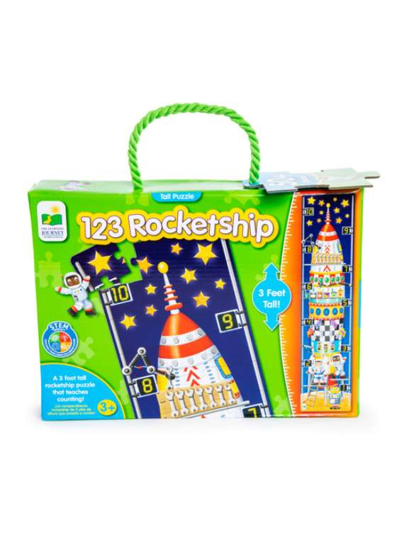 123 Rocketship 3-feet Tall Puzzle