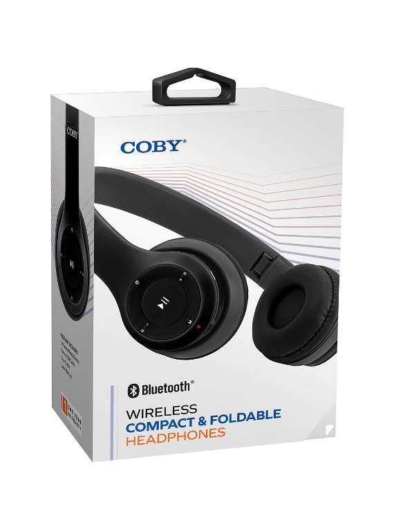 Coby Wireless Headphones Black CHBT590