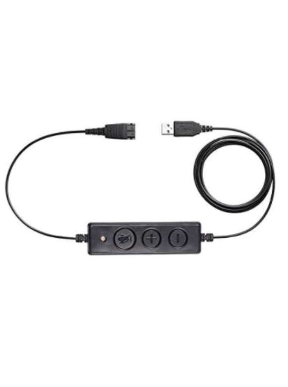 Call Center Headset USB Plug QD Cable Adaptor For Jabra GN Headsets With Adjustable Volume And Microphone Mute Switch