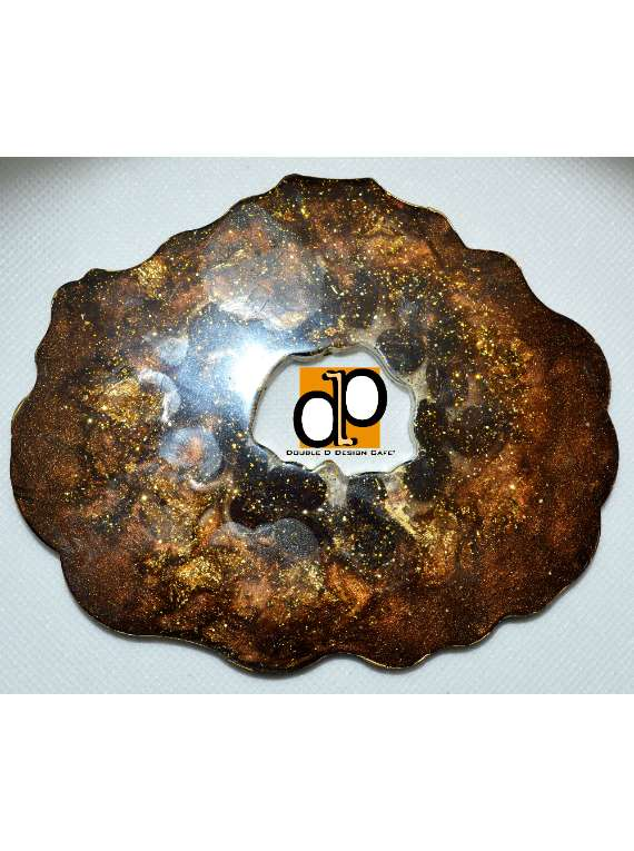 Resin Coffee Geode Coaster