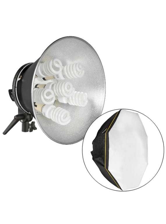 OCTACOOL - Fluorescent Light Kit With Octabox (6 Lamps)
