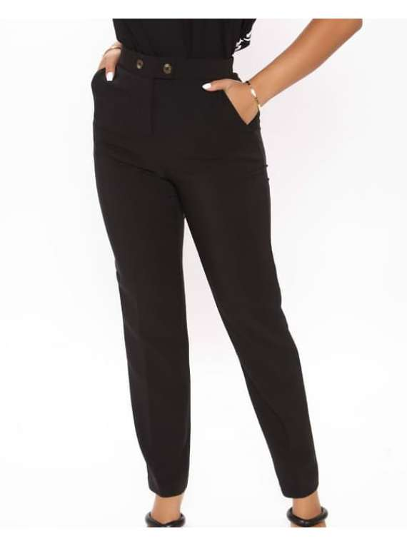 Double Button Women's Pants